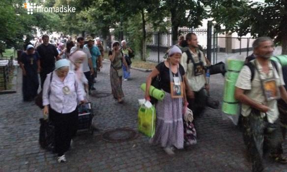 Часть участников крестного хода УПЦМП въехала встолицу Украинского государства