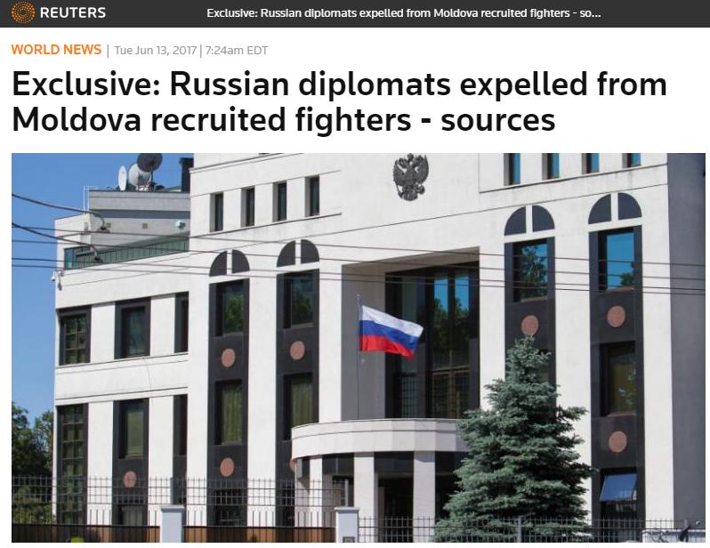Высланных изМолдавии русских дипломатов подозревали вработе наГРУ