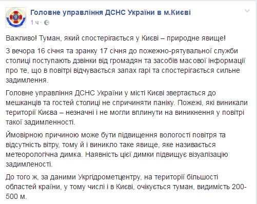 Накрытый дымом Киев впанике: вГСЧС немогут пояснить причину гари