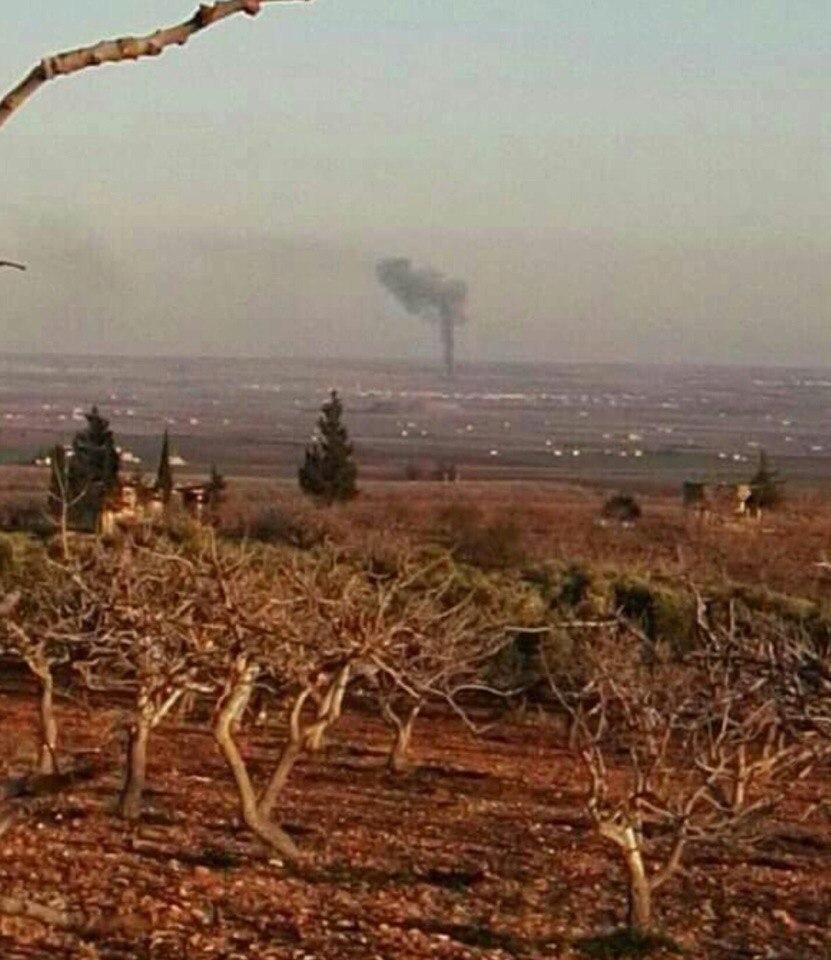 Всирийской провинции Хама террористы сбили военный самолет