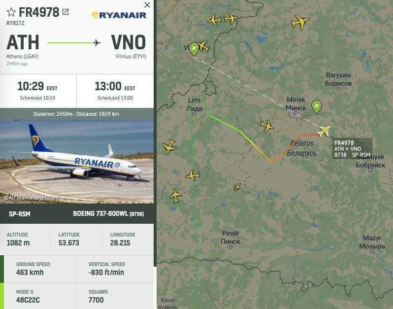 Диспетчеры угрожали сбить самолет Ryanair. посадили самолет и схватили: в аэропорту Минска арестован основатель NEXTA Протасевич 1