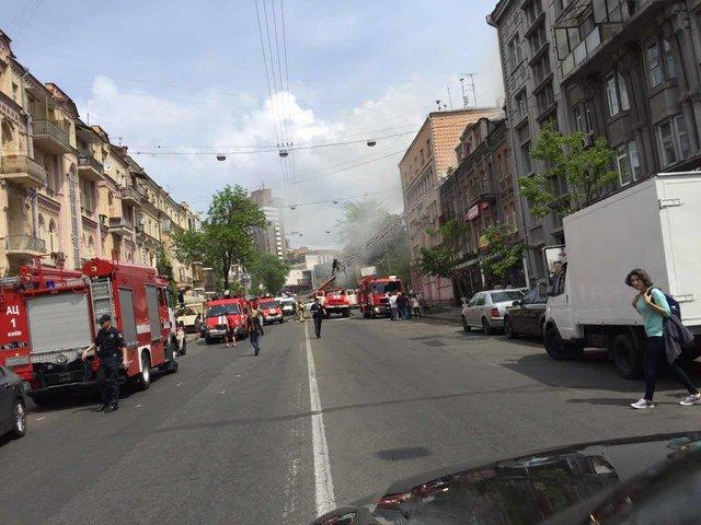 ВКиеве возле ж/д вокзала произошел пожар