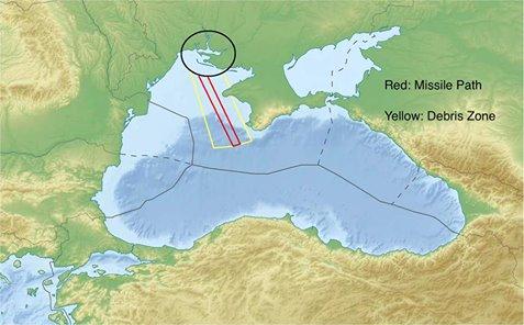 Командование Воздушных сил констатирует уменьшение опасной зоны выполнения ракетных стрельб над Черным морем - Цензор.НЕТ 2351