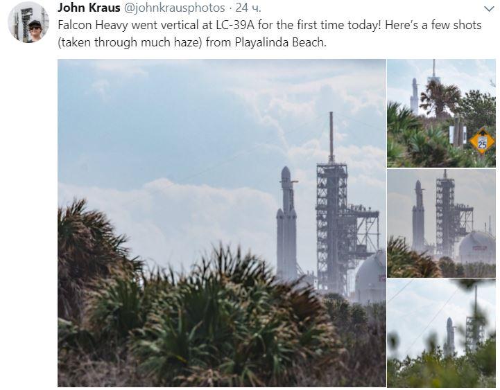 ВСША готовится кпуску самая мощная ракета напланете Falcon Heavy