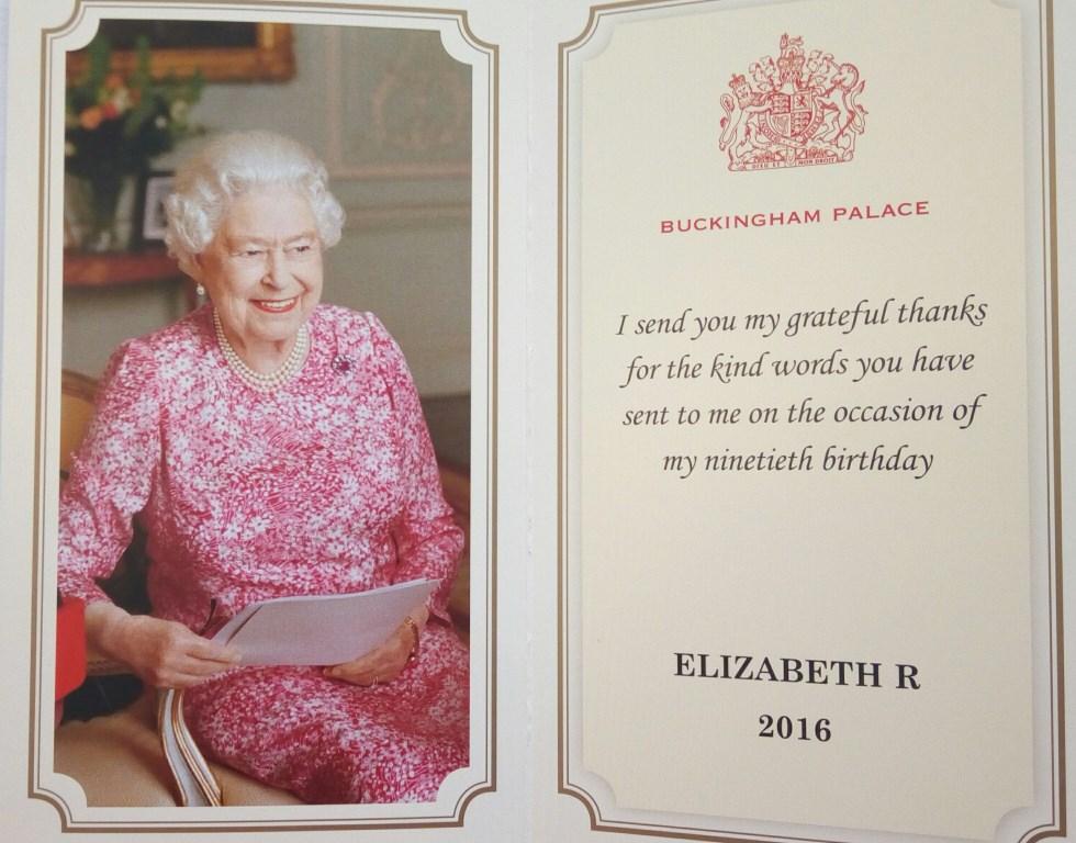 Поздравление от королевы елизаветы 74