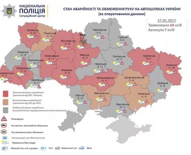 В9 областях Украинского государства зафиксирован критический уровень аварийности