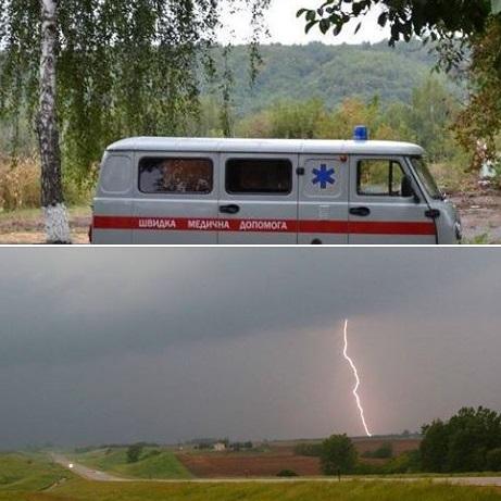 ВЧеркасской области молния убила семью, застигнутую грозой среди поля