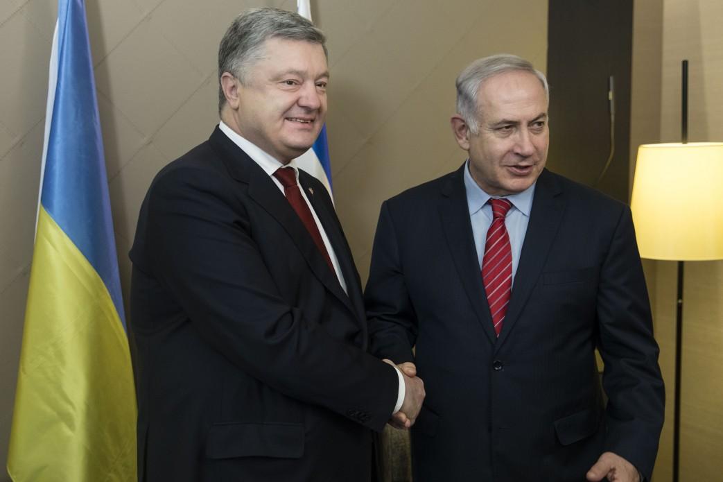 Порошенко обсудил ситуацию вДонбассе спремьером Израиля