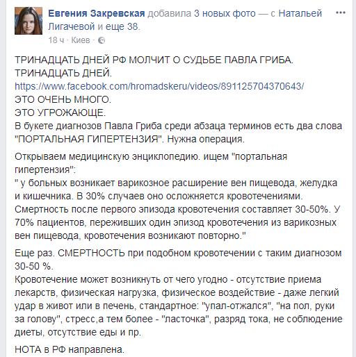В Российской Федерации  Гриба обвиняют втерроризме— МИД