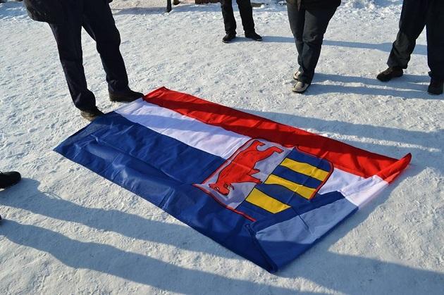 Проделки сепаратистов наЗакарпатье. На помещении ОГА тайно вывесили собственный флаг