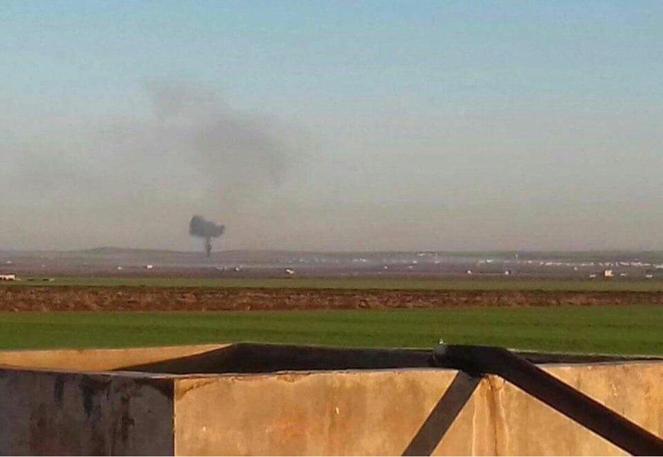 Самолет ВВС Сирии был сбит, пилот умер