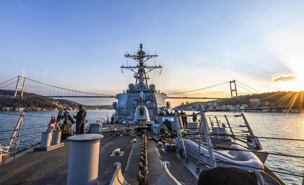 ВЧерное море вошел 1-ый в 2018г эсминец ВМС США