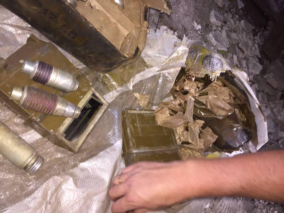Тайник свзрывчаткой обнаружили вблизи линии разграничения вДонецкой области