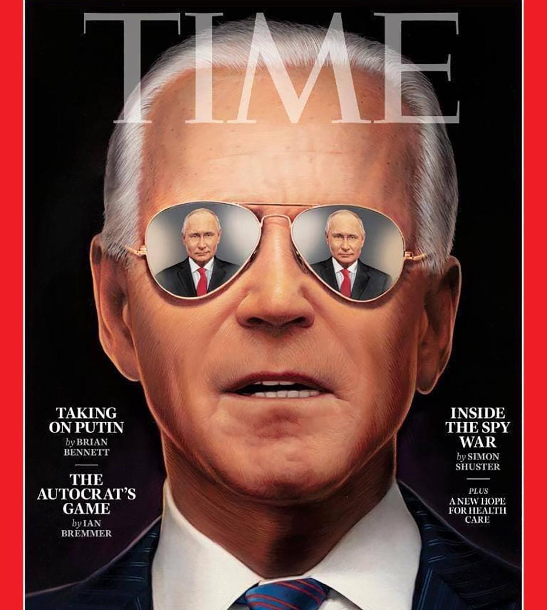 Байден и отражение Путина появились на обложке Time: в США прогнозируют непростой разговор 1
