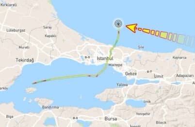 Британский ледокол James Clark Ross, купленный Украиной за $5 млн, прошел Босфор и идет в порт Одессы 1