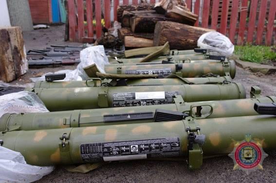 НаДонбассе удиверсантов боевиков отыскали арсенал оружия