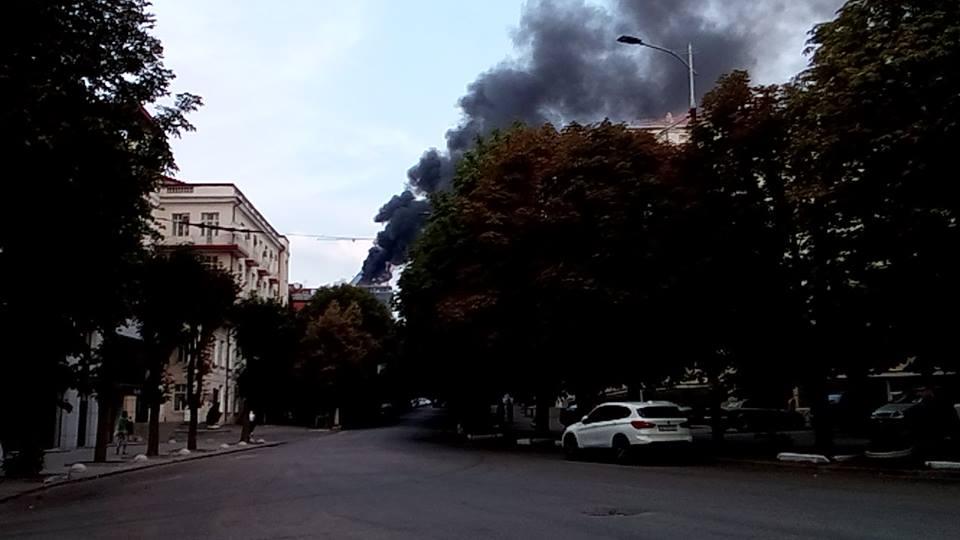 Настроительстве вДнепре произошел пожар