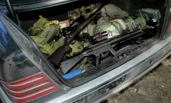 задержан автомобиль, оружие в багажнике, батальон Киев-1, АТО, терроризм