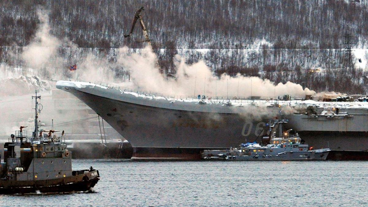Россия,  Адмирал Кузнецов, пожар, детали, жертвы, мурманск