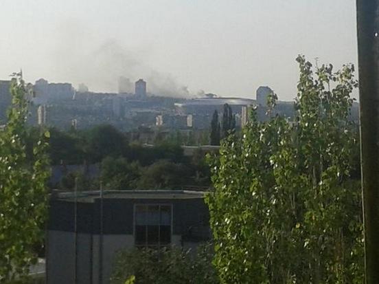 Последствия обстрела улицы Коцюбинского в Донецке