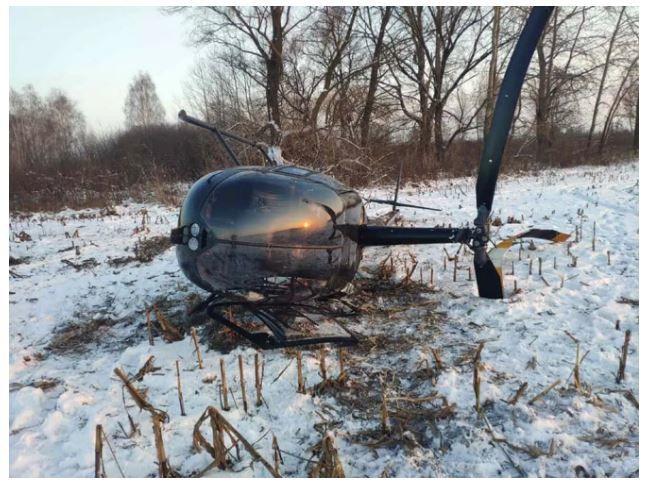 Крушение вертолета Robinson 44 под Киевом: СМИ показали первое фото с места катастрофы