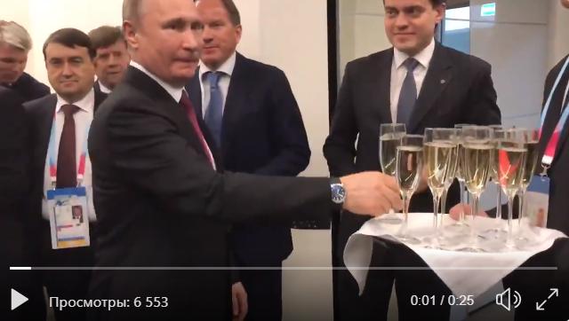 Видео Путина с шампанским вызвало громкий скандал в России: соцсети возмущены произошедшим в Саратове