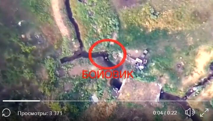 """Беспилотник ВСУ заснял подрыв позиции """"ДНР"""" с воздуха: опубликовано видео точного взрыва"""