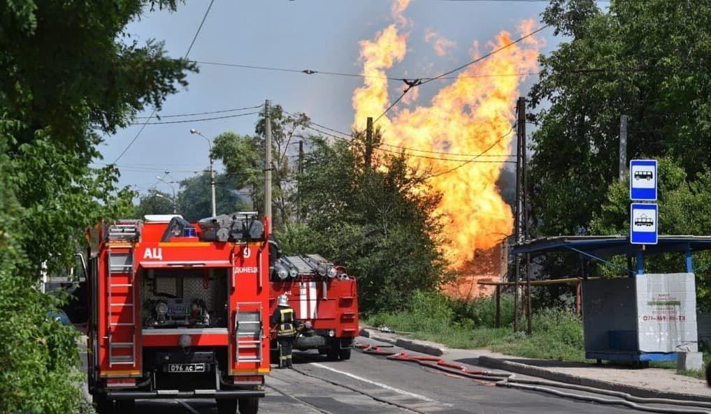 """Взрыв и пожар в Донецке: главарь """"ДНР"""" Пушилин спешно заявил о теракте"""