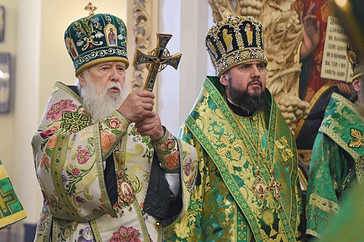 пцу, епифаний, филарет, скандал, литургия, томос