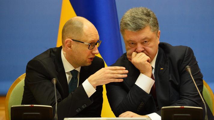 Кадровые ротации в Кабмине:  Яценюк полночи торговался с Порошенко за отставку