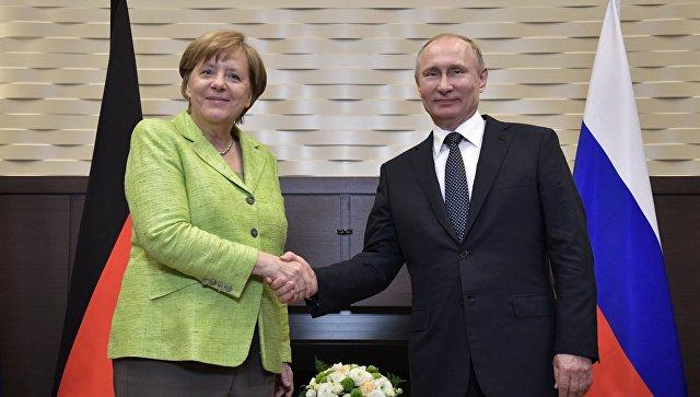 """""""Меркель vs Путин: любой федеральный канцлер Германии независимо от фамилии будет стремиться к диалогу с Россией. Но в Сочи Ангела выполняла роль ангела-хранителя Украины от русского медведя"""", - Цимбалюк"""