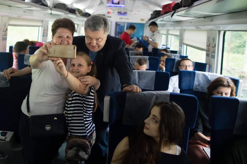 Порошенко, интерсити, поезд , поездка, партия Европейская солидарность