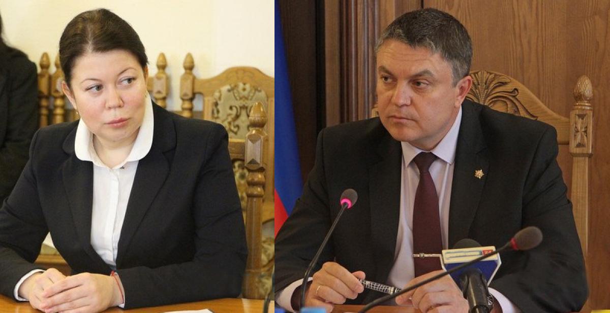 """Задержанная в Луганске """"министр"""" Деркач угрожает Пасечнику: есть компромат на сына главаря"""