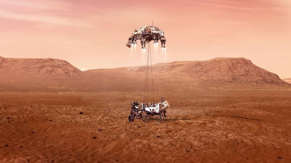 Марсоход NASA Perseverance сел на Марс: первое фото Красной планеты