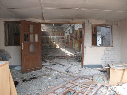 В Донецкой области злоумышленники закидали здание храма гранатами