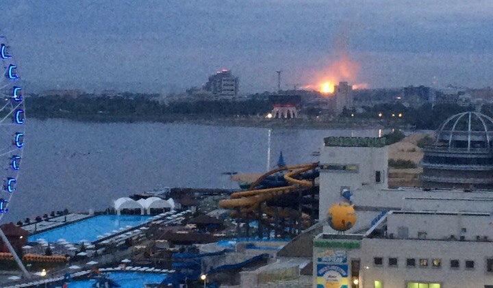 Пожар со взрывами на пороховом заводе в Казани – уничтожены сотни метров здания