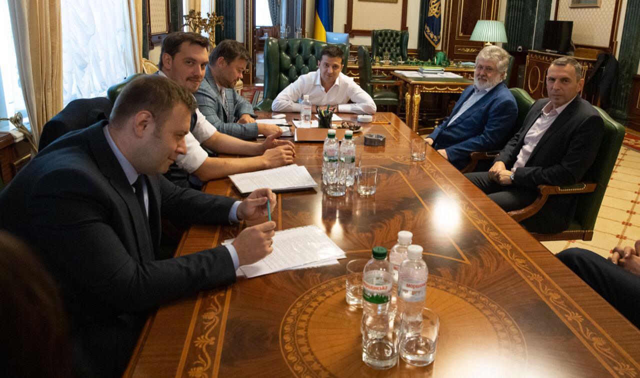 Украина, Лещенко, Зеленский, Ермак, Коломойский, Фото.