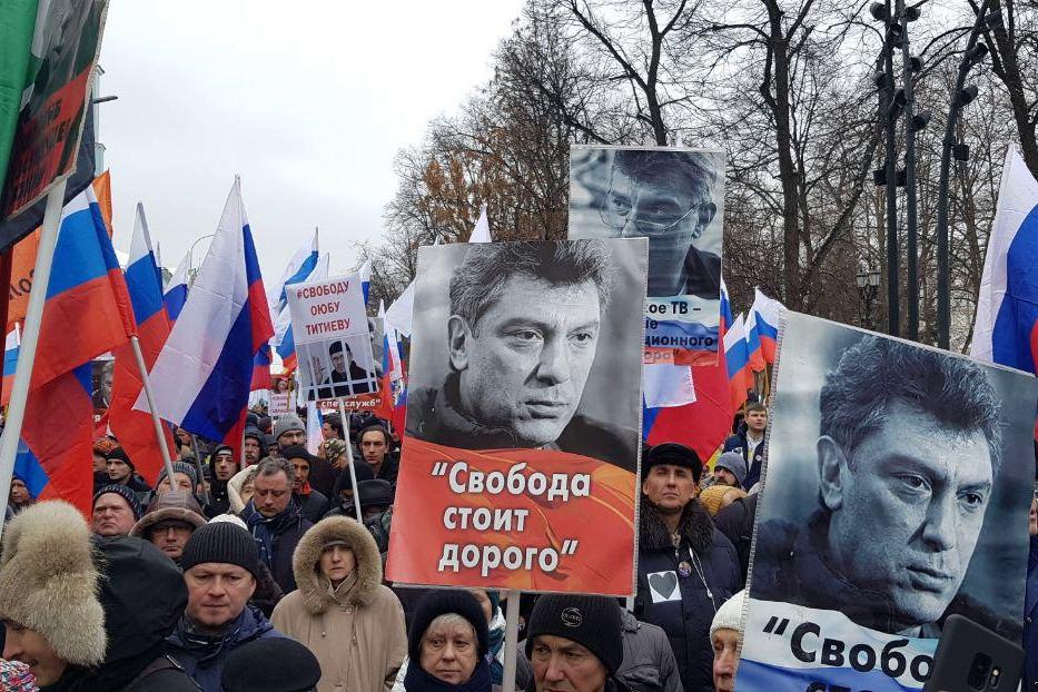 """""""За всех тех, кого РФ сделала своим заложником"""", - тысячи россиян восстали, первые кадры с марша Немцова"""