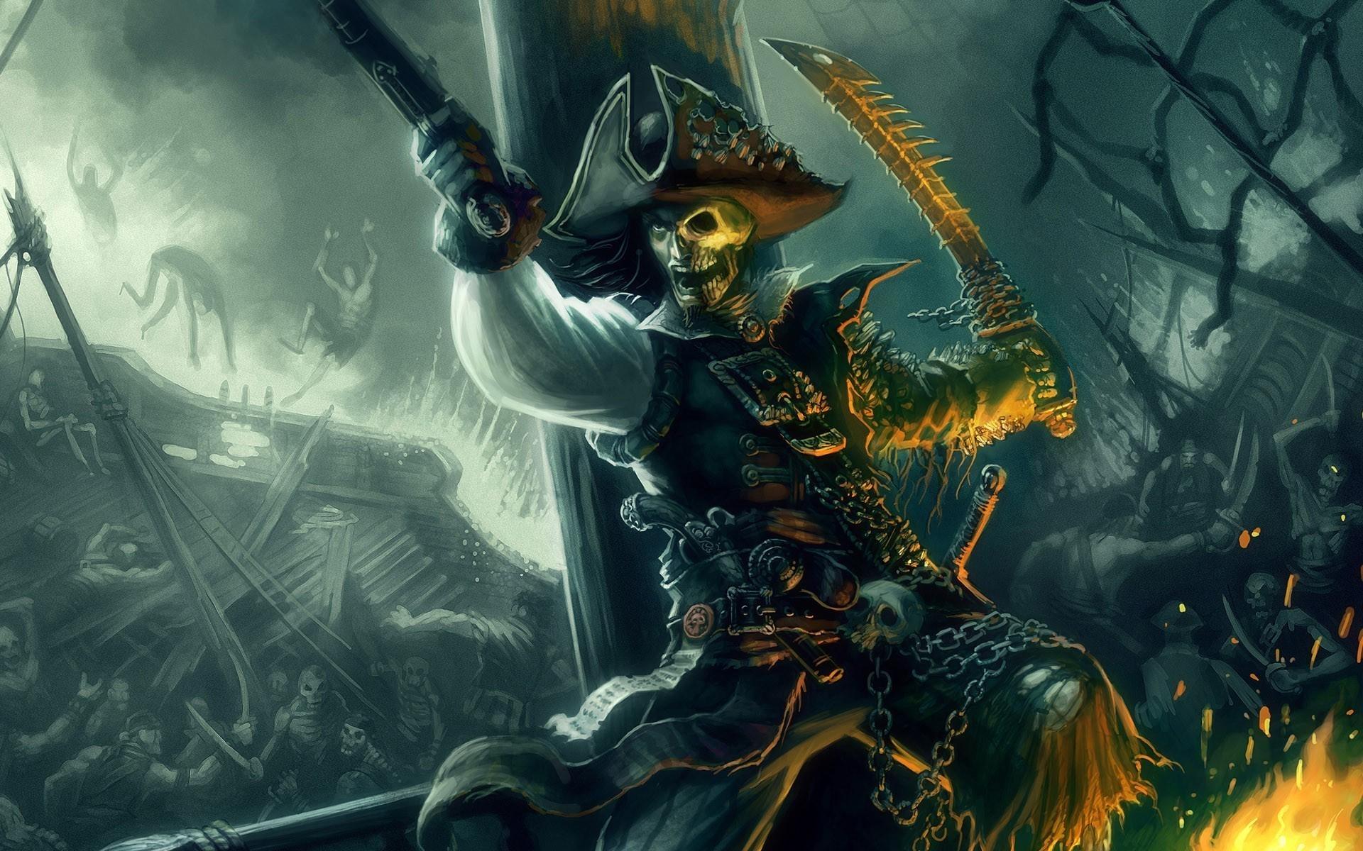 картинки море скелеты под каждым