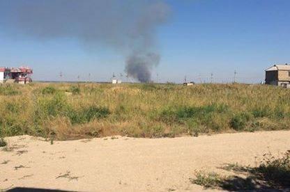 На окраине Новоазовска снаряд попал в ветлечебницу
