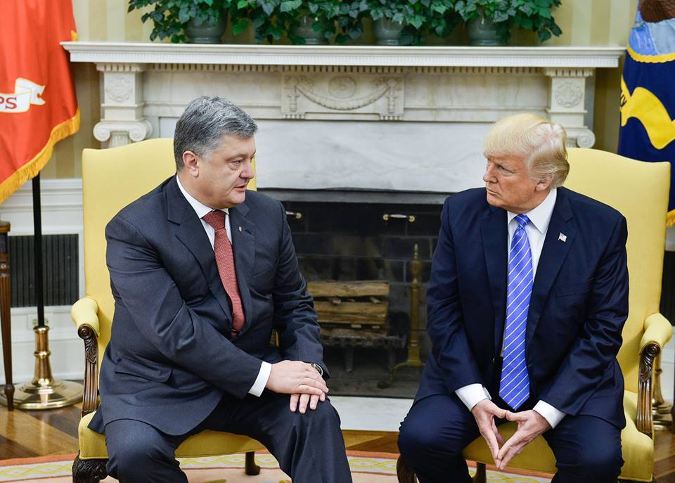 Белый дом, Историческая встреча, Петр Порошенко, Дональд Трамп