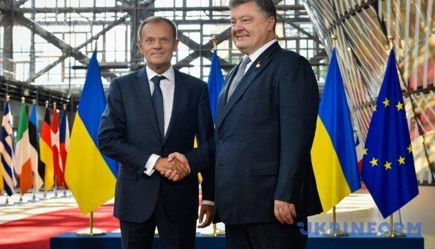 Порошенко, Украина, политика, общество, ес, ассоциация, Туск