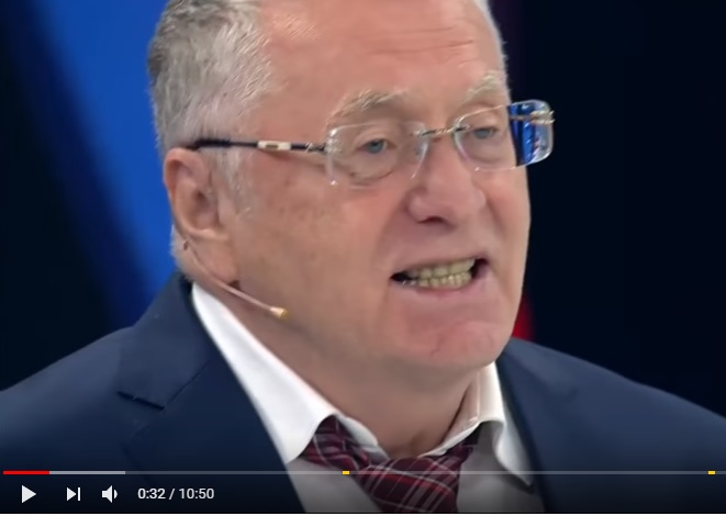 """Жириновский окончательно """"слетел с катушек"""": скандалист во всеуслышанье сделал гнусный выпад в адрес Порошенко и заявил, что Саакашвили отдаст приказ на начало войны в Украине - кадры"""