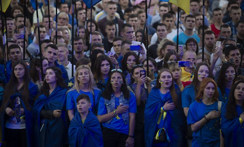 украина, порошенко, безвиз, евросоюз, праздник