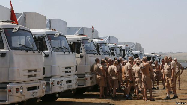 «Гуманитарный конвой» РФ находится в 35 км от Украины