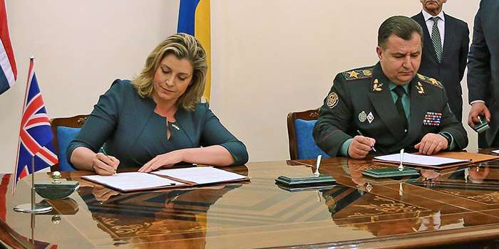 Между Украиной и Великобританией заключен меморандум в оборонной сфере