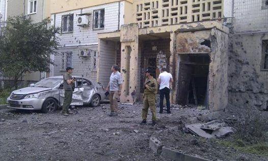 Последствия обстрела Донецка 29.07.2014