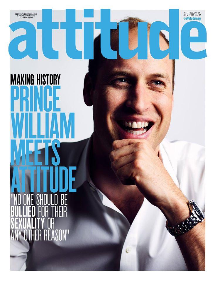 Принц Уильям на обложке ЛГБТ