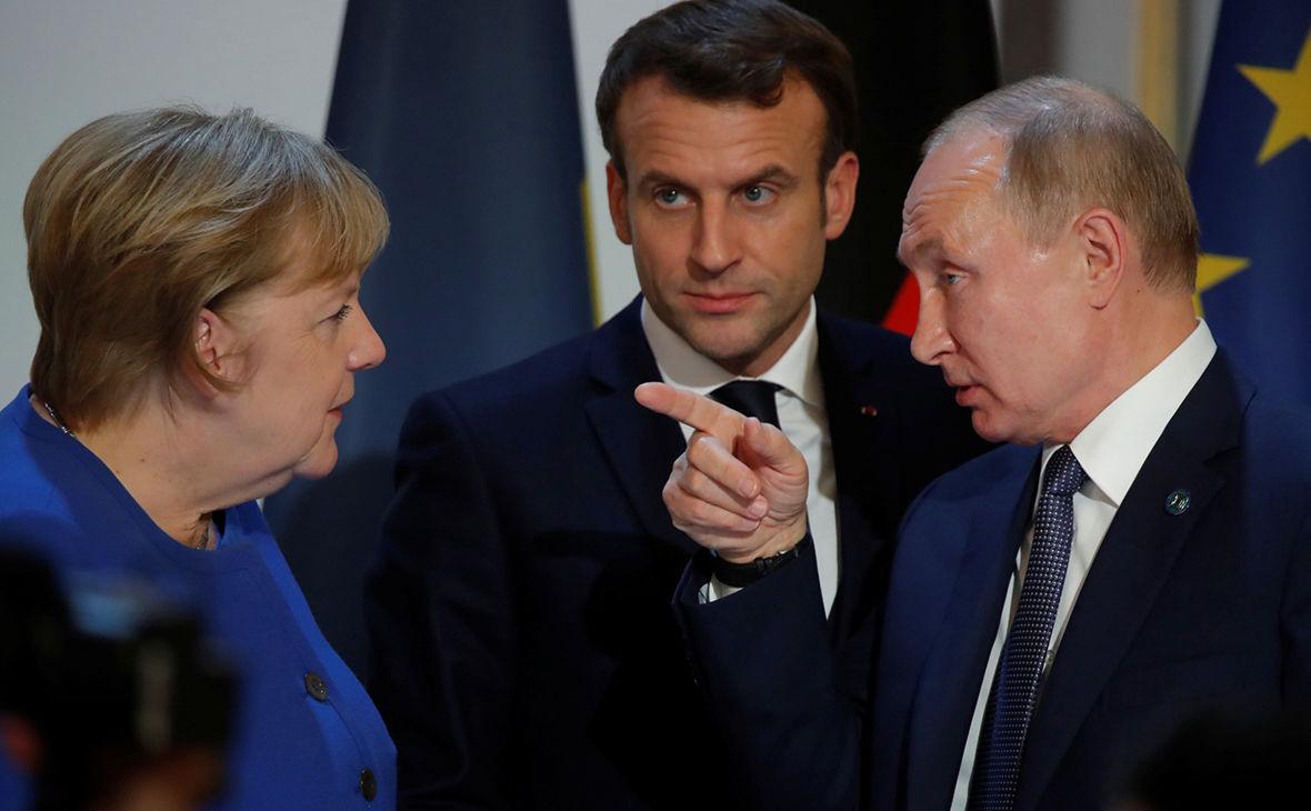 Макрон и Меркель провели переговоры с Путиным по Донбассу: их заявления сильно отличаются от российского
