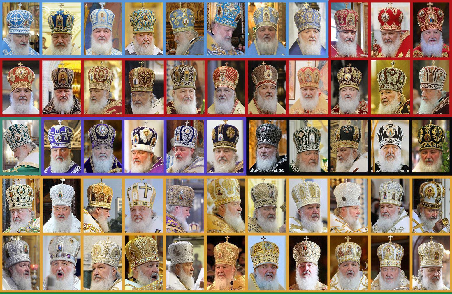 """""""Януковича на него не хватает! Он бы пощипал эту коллекцию!"""" – соцсети бурно отреагировали на количество головных уборов патриарха Кирилла-Гундяева"""
